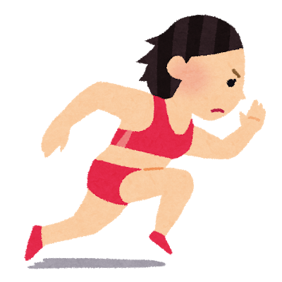 短距離走 陸上 女子 マラソン 走る.png